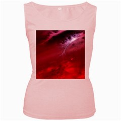 Storm Clouds And Rain Molten Iron May Be Common Occurrences Of Failed Stars Known As Brown Dwarfs Women s Pink Tank Top