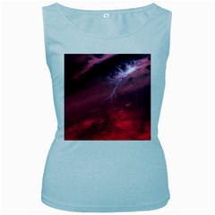 Storm Clouds And Rain Molten Iron May Be Common Occurrences Of Failed Stars Known As Brown Dwarfs Women s Baby Blue Tank Top