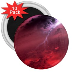 Storm Clouds And Rain Molten Iron May Be Common Occurrences Of Failed Stars Known As Brown Dwarfs 3  Magnets (10 Pack)