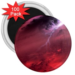 Storm Clouds And Rain Molten Iron May Be Common Occurrences Of Failed Stars Known As Brown Dwarfs 3  Magnets (100 Pack)