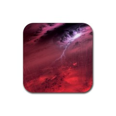 Storm Clouds And Rain Molten Iron May Be Common Occurrences Of Failed Stars Known As Brown Dwarfs Rubber Square Coaster (4 Pack)