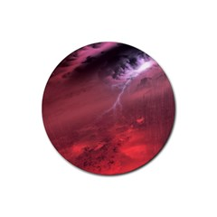Storm Clouds And Rain Molten Iron May Be Common Occurrences Of Failed Stars Known As Brown Dwarfs Rubber Round Coaster (4 Pack)