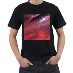 Storm Clouds And Rain Molten Iron May Be Common Occurrences Of Failed Stars Known As Brown Dwarfs Men s T Shirt (black) (two Sided)
