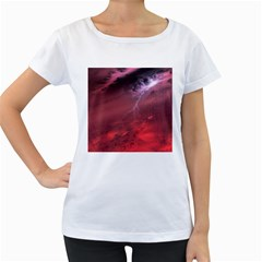 Storm Clouds And Rain Molten Iron May Be Common Occurrences Of Failed Stars Known As Brown Dwarfs Women s Loose Fit T Shirt (white)