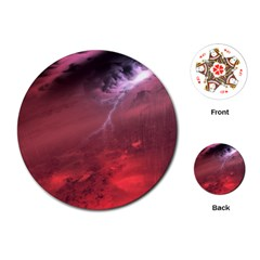 Storm Clouds And Rain Molten Iron May Be Common Occurrences Of Failed Stars Known As Brown Dwarfs Playing Cards (round)