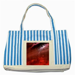 Storm Clouds And Rain Molten Iron May Be Common Occurrences Of Failed Stars Known As Brown Dwarfs Striped Blue Tote Bag