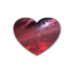 Storm Clouds And Rain Molten Iron May Be Common Occurrences Of Failed Stars Known As Brown Dwarfs Rubber Coaster (heart)