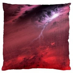 Storm Clouds And Rain Molten Iron May Be Common Occurrences Of Failed Stars Known As Brown Dwarfs Large Flano Cushion Case (one Side)