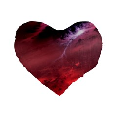 Storm Clouds And Rain Molten Iron May Be Common Occurrences Of Failed Stars Known As Brown Dwarfs Standard 16  Premium Flano Heart Shape Cushions