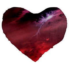 Storm Clouds And Rain Molten Iron May Be Common Occurrences Of Failed Stars Known As Brown Dwarfs Large 19  Premium Flano Heart Shape Cushions