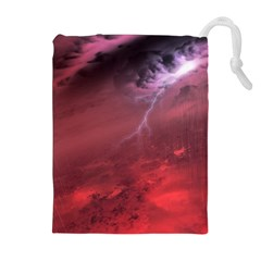 Storm Clouds And Rain Molten Iron May Be Common Occurrences Of Failed Stars Known As Brown Dwarfs Drawstring Pouches (extra Large)