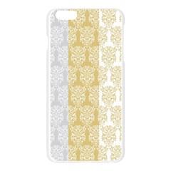 Scrapbook Digitais Estampa Arabesco Scrapbook Para Imprimir Flower Leaf Apple Seamless iPhone 6 Plus/6S Plus Case (Transparent)