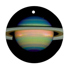 True Color Variety Of The Planet Saturn Ornament (round)