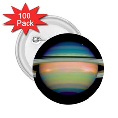True Color Variety Of The Planet Saturn 2 25  Buttons (100 Pack)