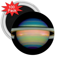 True Color Variety Of The Planet Saturn 3  Magnets (100 Pack)