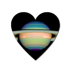 True Color Variety Of The Planet Saturn Heart Magnet