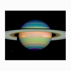 True Color Variety Of The Planet Saturn Small Glasses Cloth