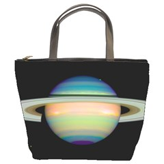 True Color Variety Of The Planet Saturn Bucket Bags