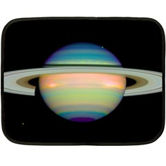 True Color Variety Of The Planet Saturn Fleece Blanket (mini)