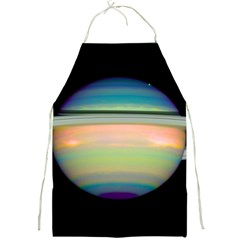 True Color Variety Of The Planet Saturn Full Print Aprons