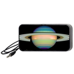 True Color Variety Of The Planet Saturn Portable Speaker (Black)