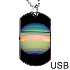True Color Variety Of The Planet Saturn Dog Tag Usb Flash (two Sides)
