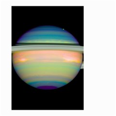 True Color Variety Of The Planet Saturn Small Garden Flag (two Sides)