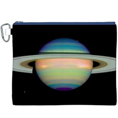 True Color Variety Of The Planet Saturn Canvas Cosmetic Bag (xxxl)