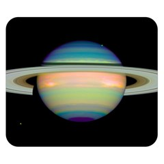 True Color Variety Of The Planet Saturn Double Sided Flano Blanket (small)
