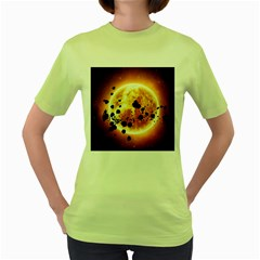 Sun Man Women s Green T Shirt