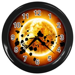 Sun Man Wall Clocks (black)
