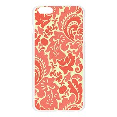 Red Floral Apple Seamless iPhone 6 Plus/6S Plus Case (Transparent)