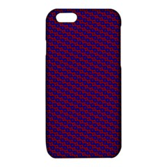 Chain Blue Red Woven Fabric iPhone 6/6S TPU Case