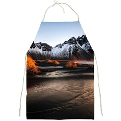 Vestrahorn Iceland Winter Sunrise Landscape Sea Coast Sandy Beach Sea Mountain Peaks With Snow Blue Full Print Aprons