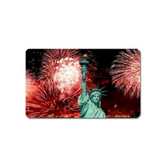The Statue Of Liberty And 4th Of July Celebration Fireworks Magnet (name Card)