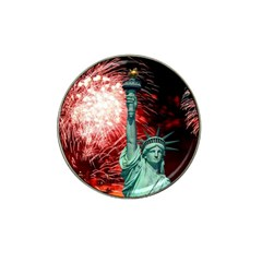 The Statue Of Liberty And 4th Of July Celebration Fireworks Hat Clip Ball Marker (4 Pack)
