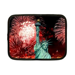 The Statue Of Liberty And 4th Of July Celebration Fireworks Netbook Case (small)