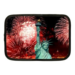 The Statue Of Liberty And 4th Of July Celebration Fireworks Netbook Case (medium)