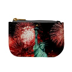 The Statue Of Liberty And 4th Of July Celebration Fireworks Mini Coin Purses