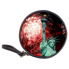 The Statue Of Liberty And 4th Of July Celebration Fireworks Classic 20 Cd Wallets