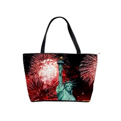 The Statue Of Liberty And 4th Of July Celebration Fireworks Shoulder Handbags