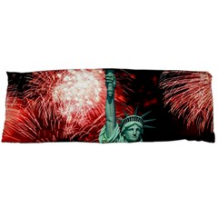The Statue Of Liberty And 4th Of July Celebration Fireworks Body Pillow Case Dakimakura (two Sides)