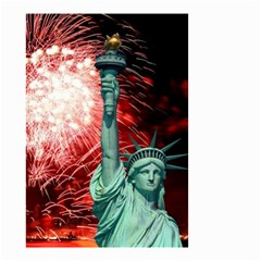 The Statue Of Liberty And 4th Of July Celebration Fireworks Small Garden Flag (two Sides)