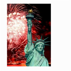 The Statue Of Liberty And 4th Of July Celebration Fireworks Large Garden Flag (two Sides)