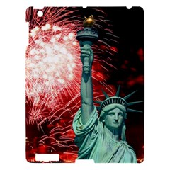 The Statue Of Liberty And 4th Of July Celebration Fireworks Apple Ipad 3/4 Hardshell Case