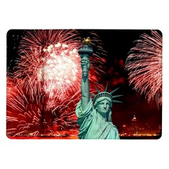 The Statue Of Liberty And 4th Of July Celebration Fireworks Samsung Galaxy Tab 10 1  P7500 Flip Case