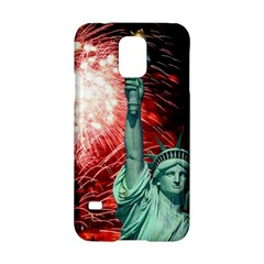 The Statue Of Liberty And 4th Of July Celebration Fireworks Samsung Galaxy S5 Hardshell Case