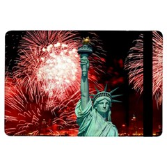 The Statue Of Liberty And 4th Of July Celebration Fireworks Ipad Air Flip