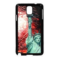 The Statue Of Liberty And 4th Of July Celebration Fireworks Samsung Galaxy Note 3 Neo Hardshell Case (black)