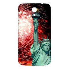 The Statue Of Liberty And 4th Of July Celebration Fireworks Samsung Galaxy Mega I9200 Hardshell Back Case